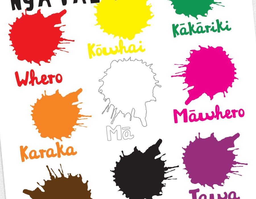 Educational Resources Te Reo Māori Colours Poster